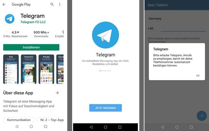 Telegram Account erstellen und anmelden in wenigen Schritten