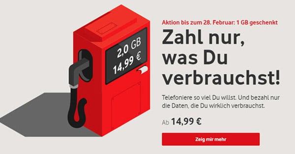 Vodafone IN: Handytarif mit flexiblem Datenvolumen (2 GB bis 11 GB LTE) - doch für wen lohnt sich der Aktionstarif?