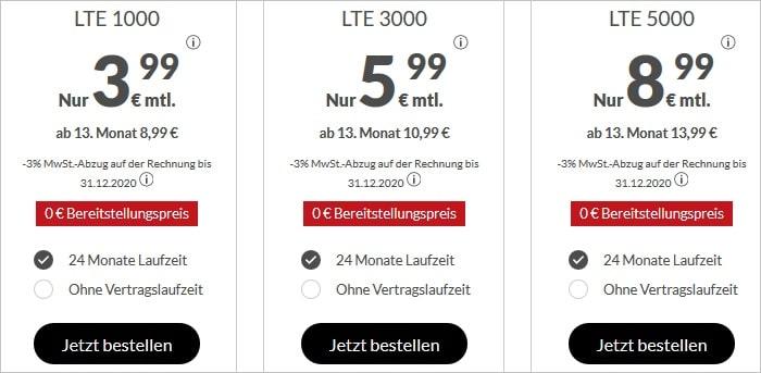 Allnet-Flats mit LTE-Highspeed bei maXXim