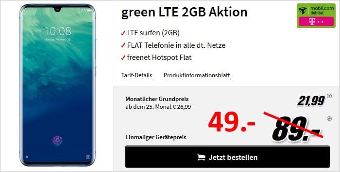 ZTE Axon 10 Pro + mobilcom-debitel green LTE (Telekom-Netz) bei MediaMarkt
