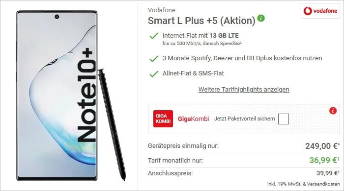 Samsung Galaxy Note 10 Plus + Vodafone Smart L Plus bei Deinhandy