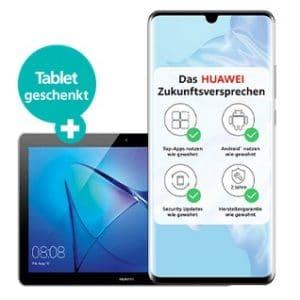 Huawei P30 Pro mit Tablet Logo