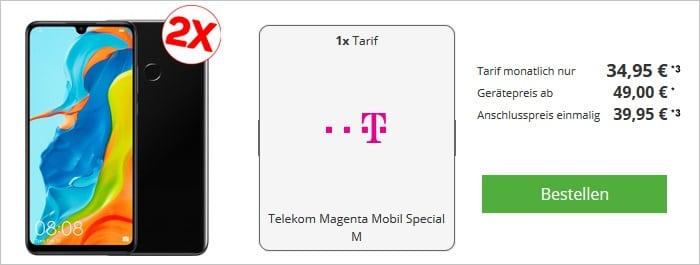 Huawei P30 lite Doppelpack + Telekom Magenta Special M bei Talkthisway
