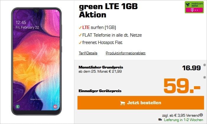Samsung Galaxy A50 mit green LTE 1 GB Telekom bei Saturn