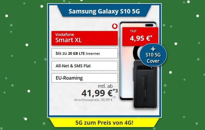 Samsung Galaxy S10 5G + Cover + Vodafone Smart XL bei Tophandy