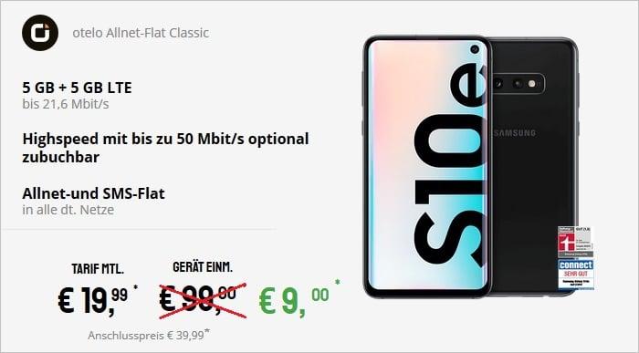 Samsung Galaxy S10e + otelo Allnet Flat Classic bei Sparhandy 9