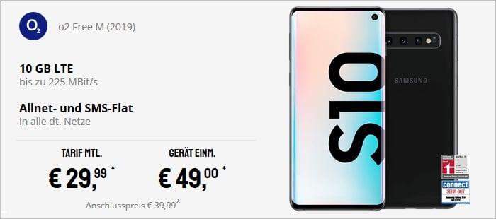 Samsung Galaxy S10 + o2 Free M bei Sparhandy