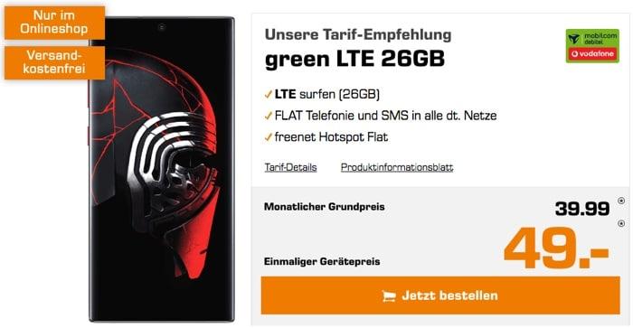 Samsung Galaxy Note 10 Plus mit Vertrag green LTE im Vodafone-Netz