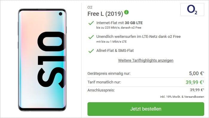 Samsung Galaxy S10 + o2 Free L Bei DeinHandy