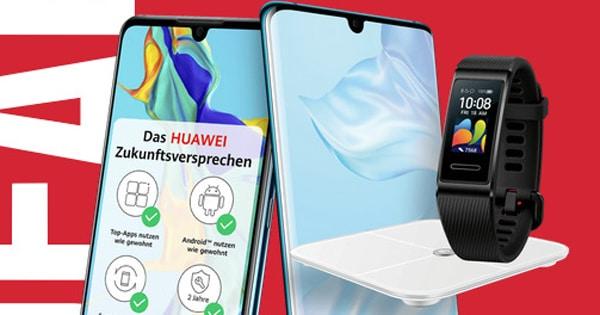 Gratis Huawei Band 4 Pro & Körperfettwaage zu jedem Huawei P30 Pro & Huawei P30 - P30 lite mit einem Extra!