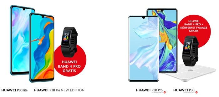 Gratis Huawei Band 4 Pro & Körperfettwaage zu jedem Huawei P30 Pro & Huawei P30 / New Edition - P30 lite mit einem Extra!