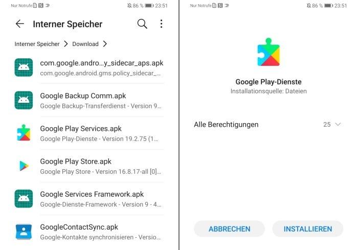 Google-Apps auf dem Huawei Mate 30 Pro