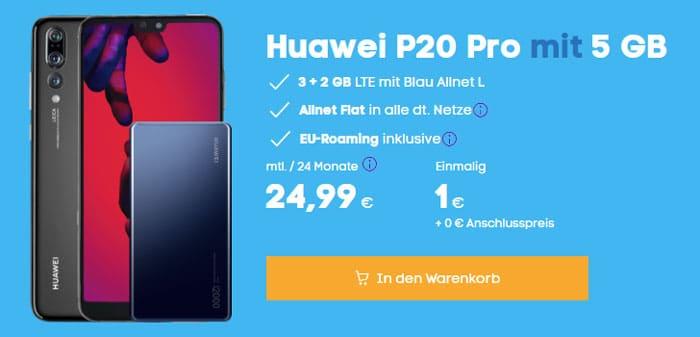 Huawei P20 Pro + Blau Allnet L bei Blau