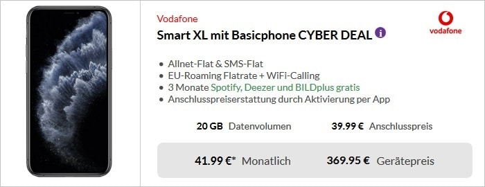iPhone 11 Pro + Vodafone Smart XL bei Preisboerse24