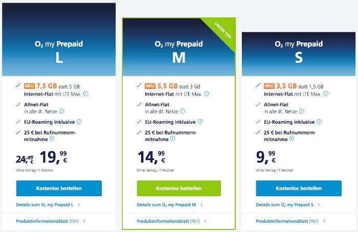 o2 my Prepaid