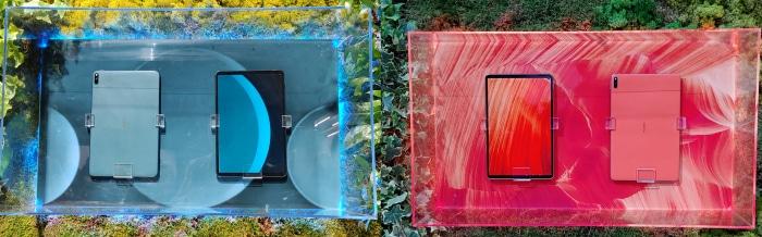 MatePad Pro Blau und Rosa