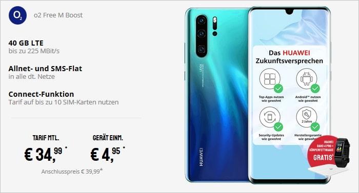Huawei P30 Pro + o2 Free M Boost 2020 bei Sparhandy