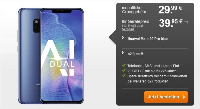 Huawei Mate 20 Pro mit o2 Free M bei handyflash