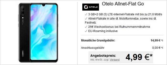 Huawei P30 lite + otelo Allnet-Flat Go bei LogiTel