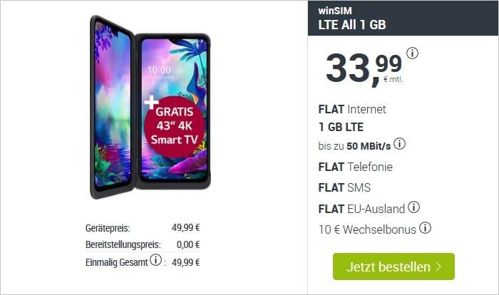 LG G8X + 4K TV + winSIM LTE All