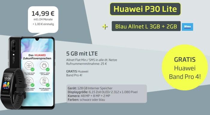 Huawei P30 lite mit Vertrag Blau AllNet L
