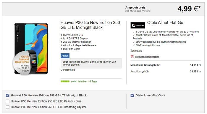 Huawei P30 Lite News Edition mit Vodafone-Tarif günstig nur 14,99 € Grundgebühr