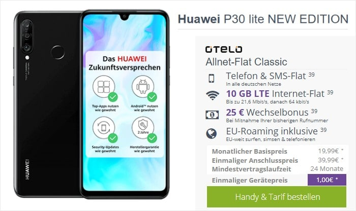 Huawei P30 Lite (New Edition) + otelo Allnet Flat Classic bei FLYmobile