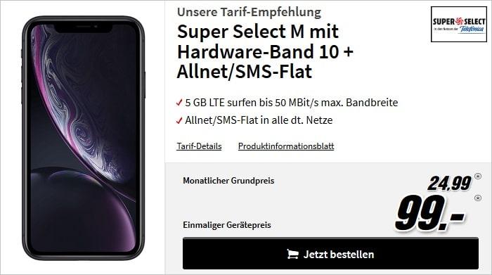 iPhone Xr mit Super Select M bei MediaMarkt