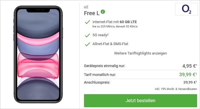 iPhone 11 mit o2 Free L bei Deinhandy
