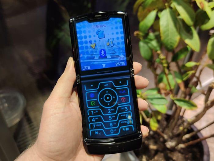 Retro-Modus Motorola razr Test
