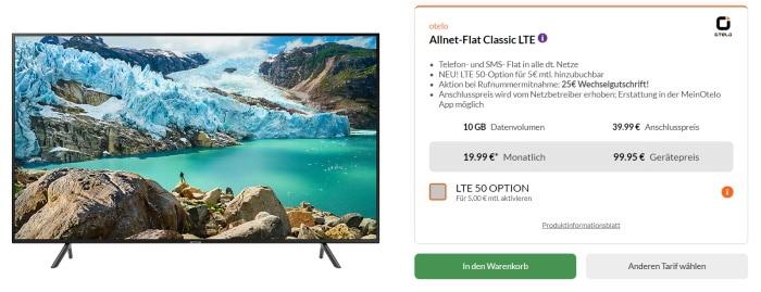 Otelo Classic Allnet Flat mit 50 Zoll Samsung 4K-TV