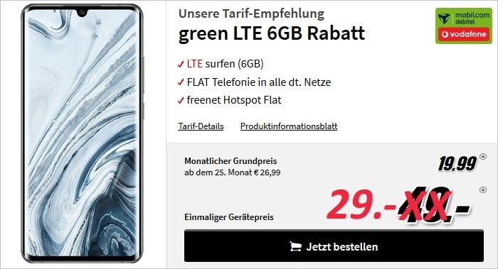 Xiaomi Mi Note 10 Pro mit Vertrag md Green LTE 6 GB im Vodafone-Netz