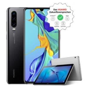 Huawei P30 mit Huawei Mediapad T3 10 bei curved