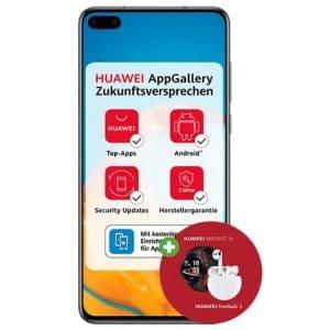 Huawei P40 mit Zugaben bei DeinHandy
