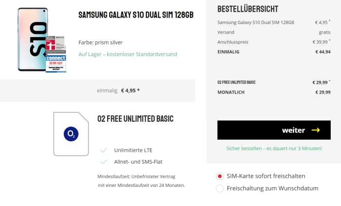 S10 o2 Free Unlimited