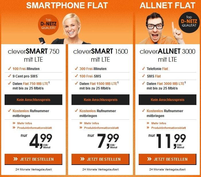 callmobile cleverSMART und cleverALLNET