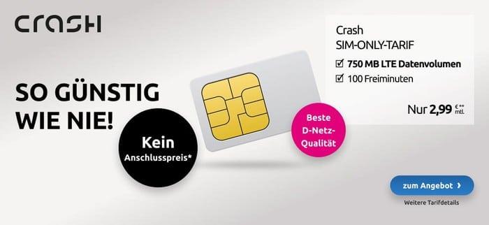 crash Smartphone Flat 750 MB LTE (Telekom-Netz) bei LogiTel