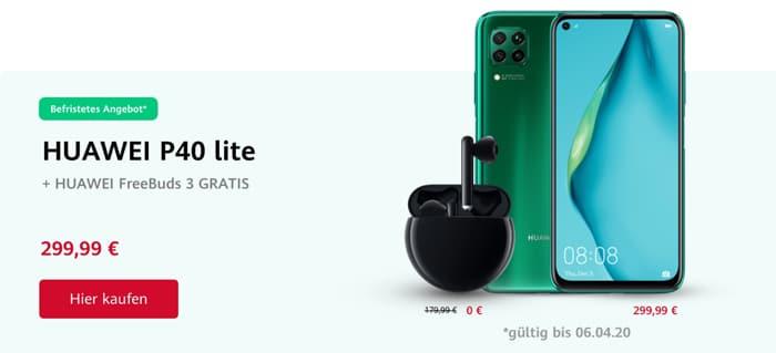 Gratis Huawei FreeBuds 3 zum Huawei P40 Lite: Vorbesteller-Aktion mit hochwertigen Kopfhörern