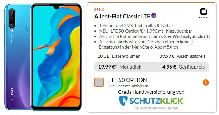 Huawei P30 Lite (New Edition) + otelo Allnet Flat Classic bei Preisboerse24
