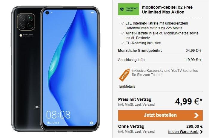 Huawei P40 lite + mobilcom-debitel Free Unlimited Max bei LogiTel