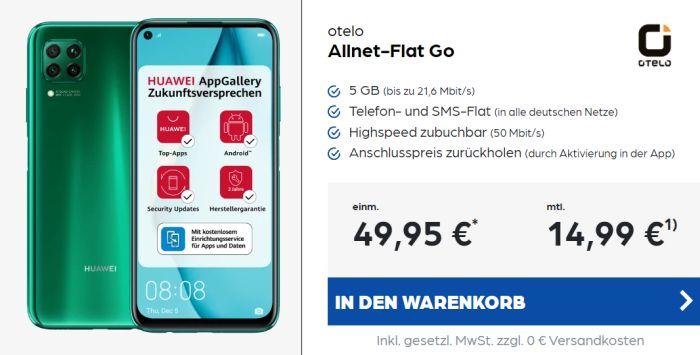 Huawei P40 Lite + otelo Allnet-Flat Go bei Preisboerse24