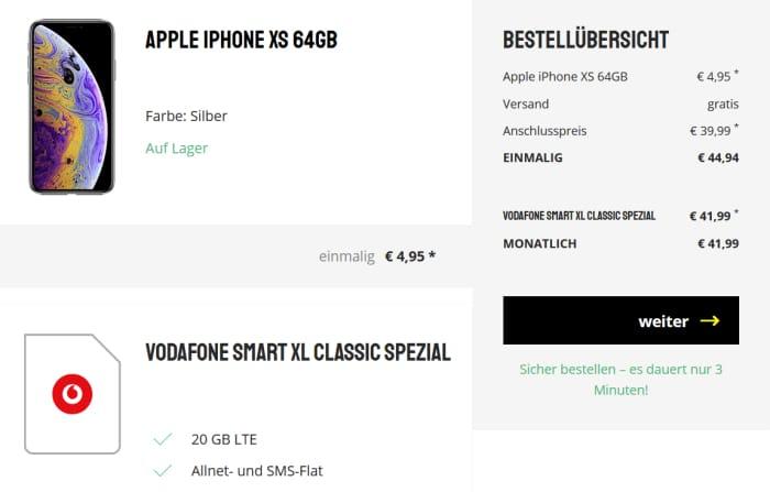 iPhone Xs mit Vodafone Smart XL