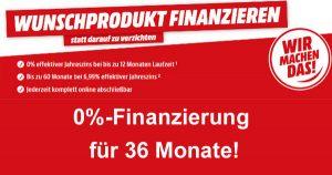 MediaMarkt Finanzierung: 0%-Finanzierung für 36 Monate, Voraussetzungen und Ablauf!