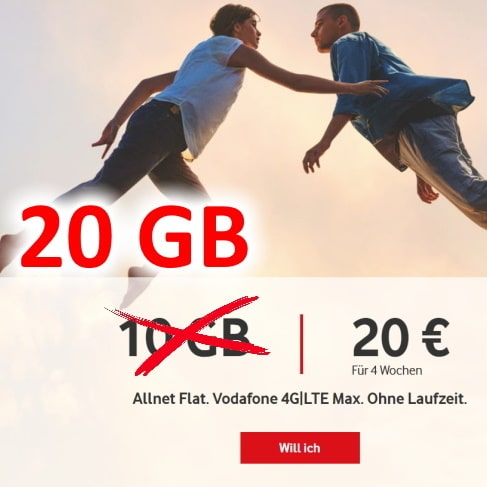 vodafone callya digital f r 20 monatl allnet flat 10 gb lte volumen. Black Bedroom Furniture Sets. Home Design Ideas