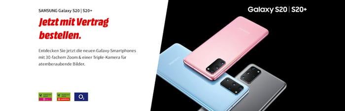 Samsung Galaxy S20 Neuheiten mit Vertrag bei Vodafone, Telekom, o2 und MediaMarkt bestellen
