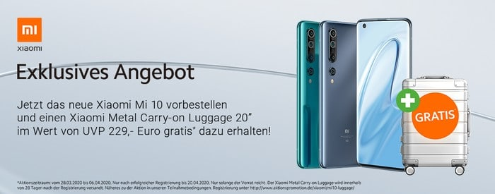 Xiaomi Mi 10 Vorbesteller-Aktion