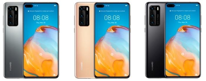 Huawei P40 Farben Sammelartikel