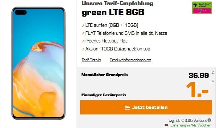 Huawei P40 + mobilcom-debitel green LTE (Telekom-Netz) bei Saturn
