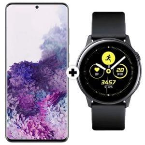 Samsung Galaxy S20 Plus und Galaxy Watch Active