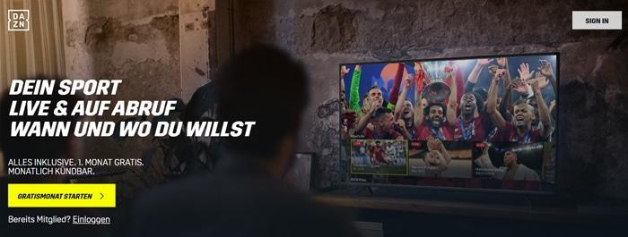 Video-Streaming von DAZN für Sport im Vergleich